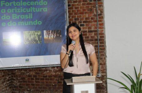 Flávia Tomita: pioneirismo da mulher nos cargos de chefia do Irga (Foto: Sérgio Pereira/Irga)