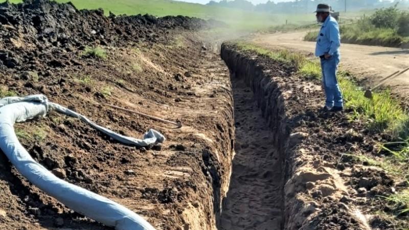 Obra emergencial na Barragem do Capané permite irrigação das lavouras neste ano