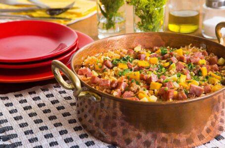 Arroz à Toscana é boa pedida para um jantar em familia