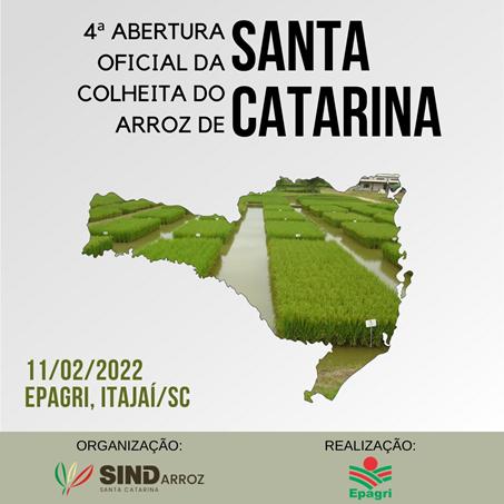 4ª Abertura Oficial da Colheita do Arroz de Santa Catarina