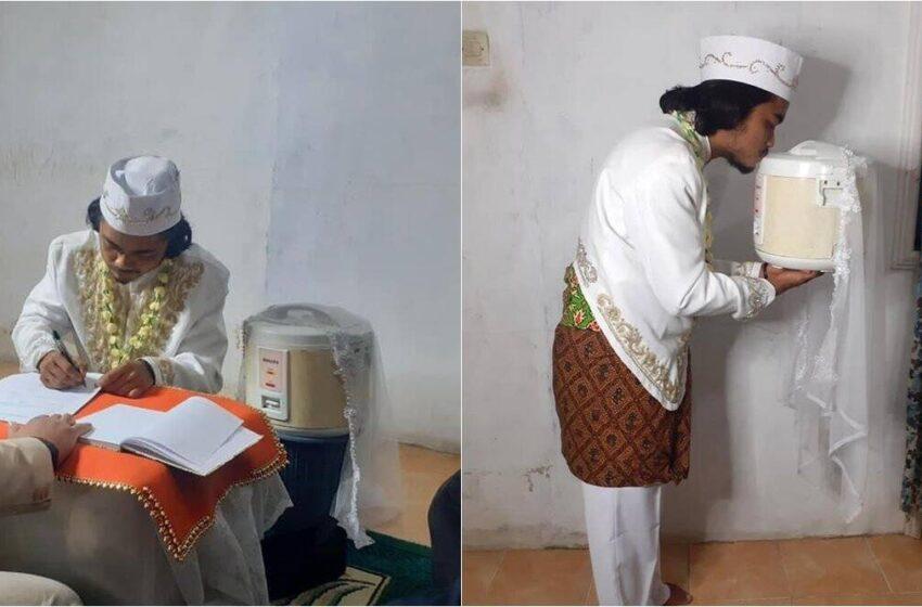 Quatro dias após casar, indonésio se divorcia de panela de arroz