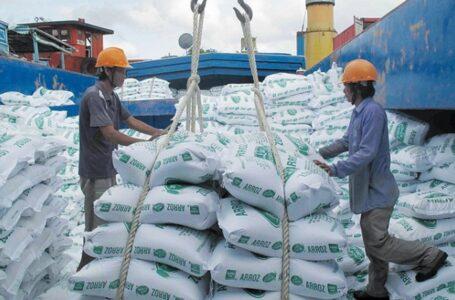 Portos da Ásia seguem com movimento enquanto os preços desabam para o arroz. (FOTO: GAO)